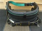BUCKINGHAM 20182M LINEMAN'S MOBILITY BELT BLACK LEATHER MFG. DATE 6/13